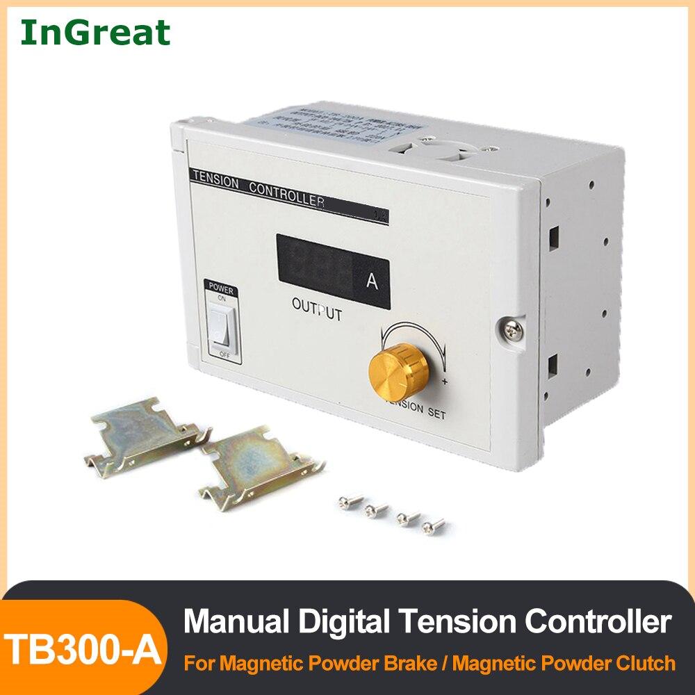 Manual Digital Tension Controller for Magnetic Powder Brake Clutch 180V-265VAC 220V 24VDC Output 0-3A Potentiometer PLC Control