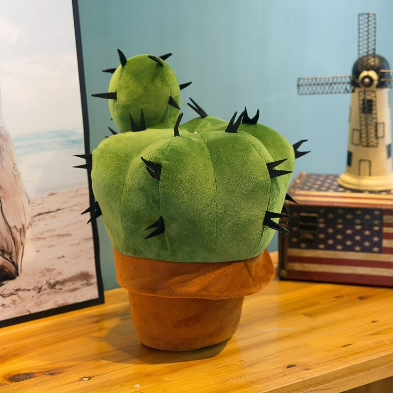 Cactus Potted Toy Creative Simulation Pillow Doll Plush Plant Birthday Gift for Girl