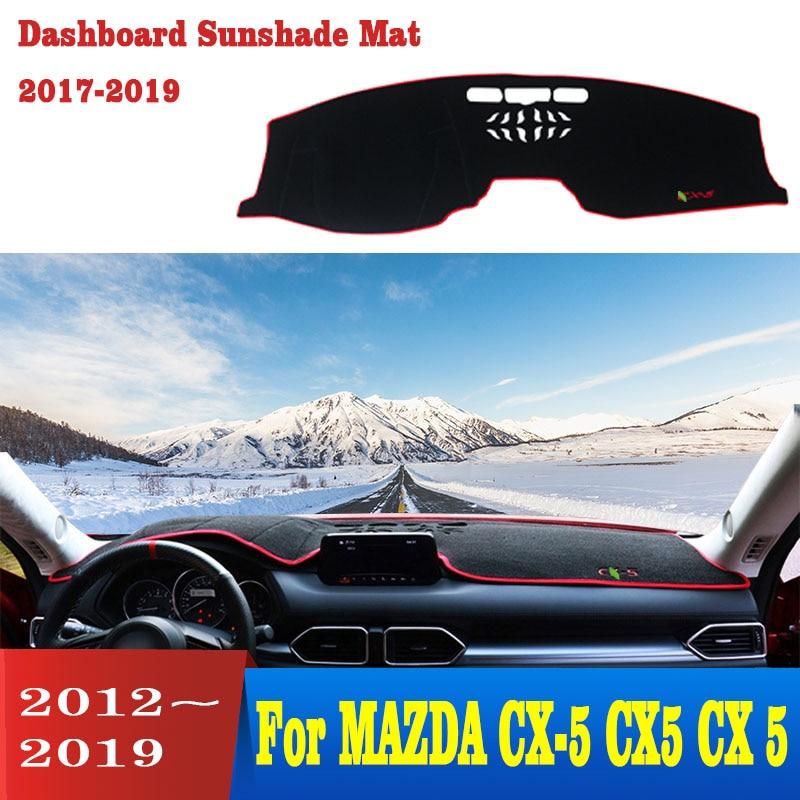Para MAZDA CX-5 CX5 CX 5 2012-2019 del tablero de instrumentos del coche cubierta anti-deslizante alfombrilla dashmat sombra de sol tablero, alfombra coche-estilo de mat