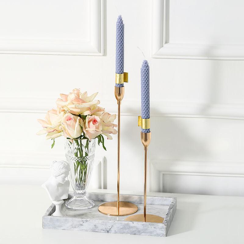 Candelabro de metal de lujo nórdico, soporte creativo para mesa de comedor,...