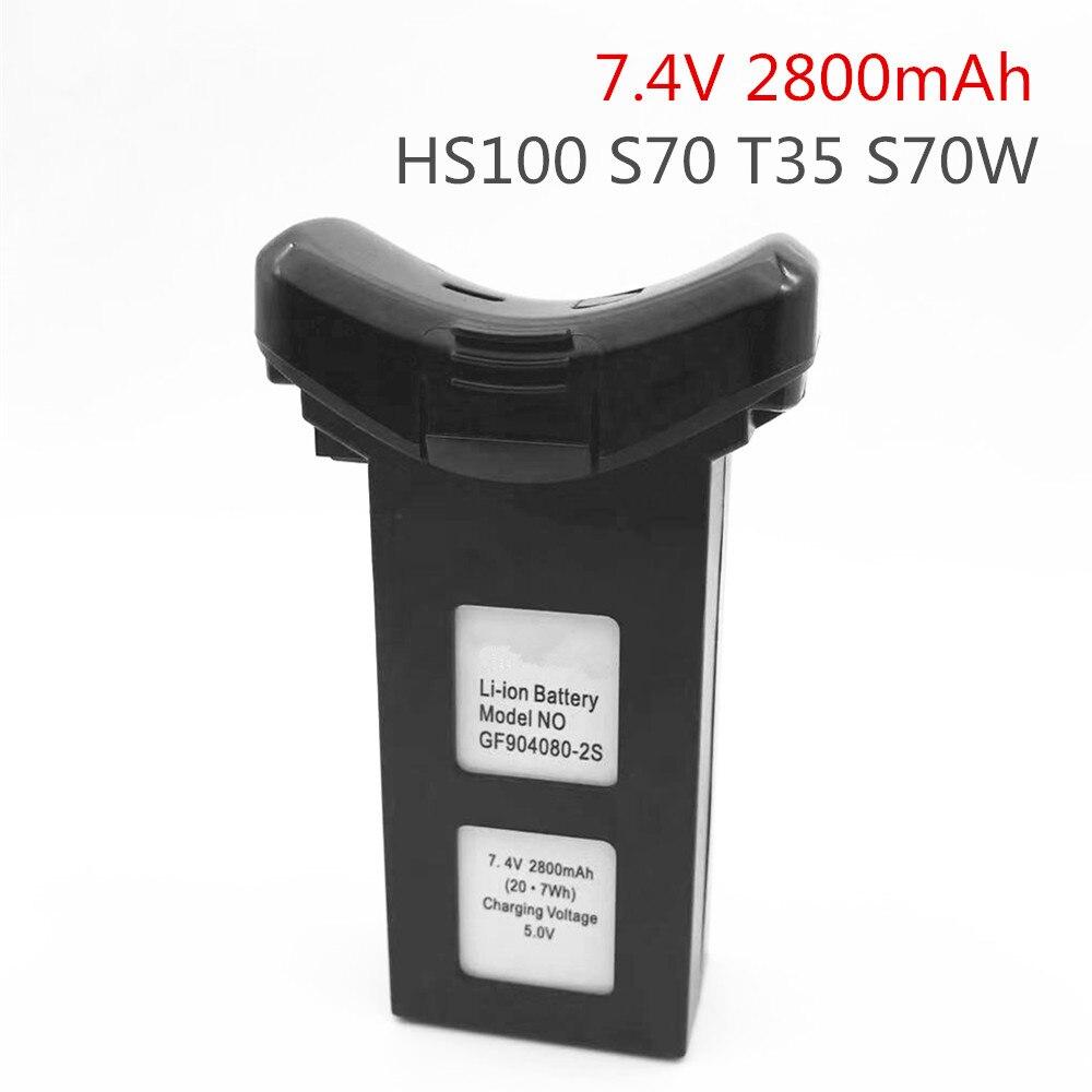 7.4V 2800mah Battery for SJR/C SJRC S70W RC Quadcopter Spare Parts Accessories Li-po Battery SJRC S7