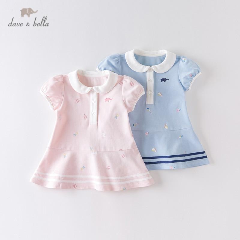 Dave bella/DBM14115 летнее платье для маленьких девочек, платье принцессы в полоску с мультяшным рисунком, Детские Модные Вечерние Платья, детская одежда в стиле Лолита Платья для девочек    АлиЭкспресс