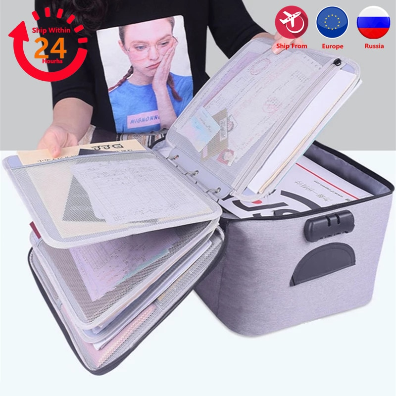 Bag for Document Organizer Briefcase Storage Men's Women's Business IPAD Electronic Pouch Case Supplies Accessories