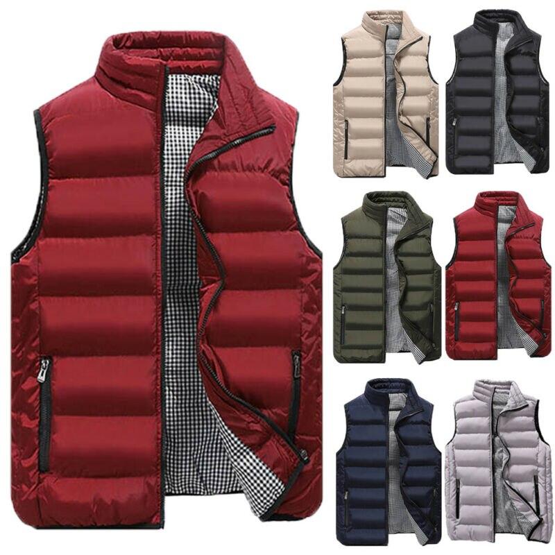 الرجال الشتاء بلون أسفل سترة سترة الجسم دفئا الدافئة أكمام الوقوف طوق جاكيت زيبرا معطف أسود أحمر كاكي