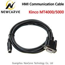 O tela táctil de kinco mt4000/5000 hmi conecta a comunicação do cabo do programa do plc entre o plc e o newcarve de hmi