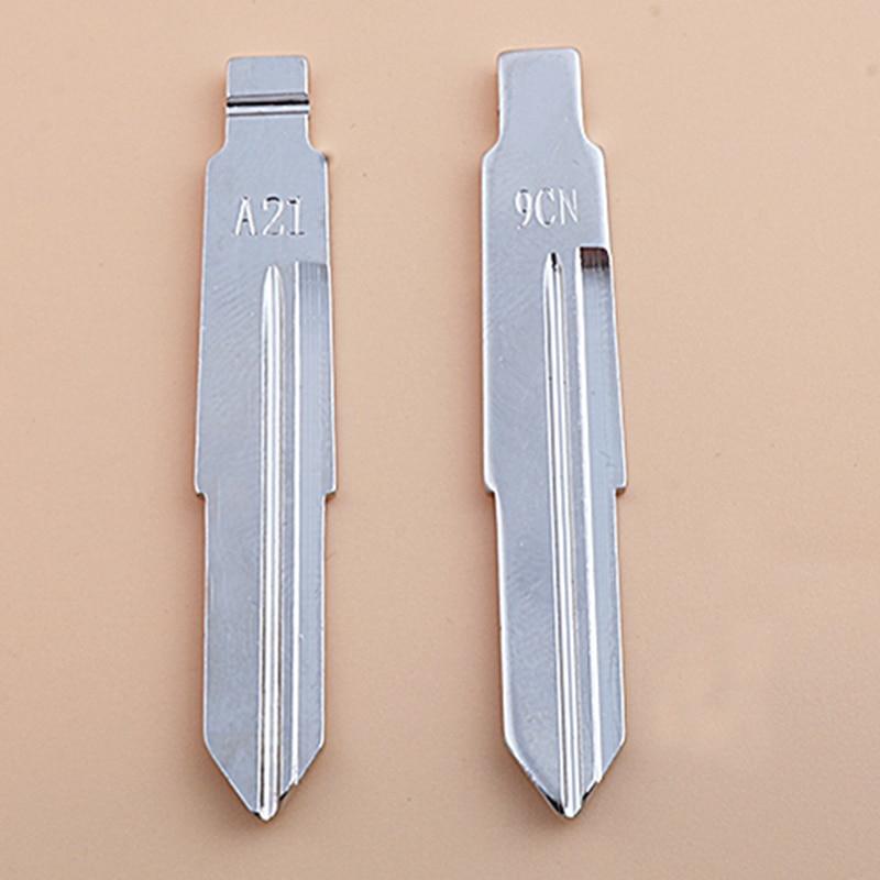 Dakatu 84 # metal uncut chave lâmina modificado flip kd vvdi substituição do carro chave escudo lâmina para chery a21 flip chave no.84