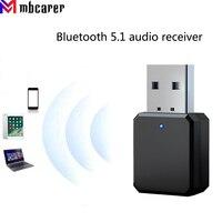 Bluetooth-совместимый аудиоприемник 5,1 с двойным выходом AUX USB стерео автомобильный громкой связи со встроенным микрофоном беспроводной адаптер...