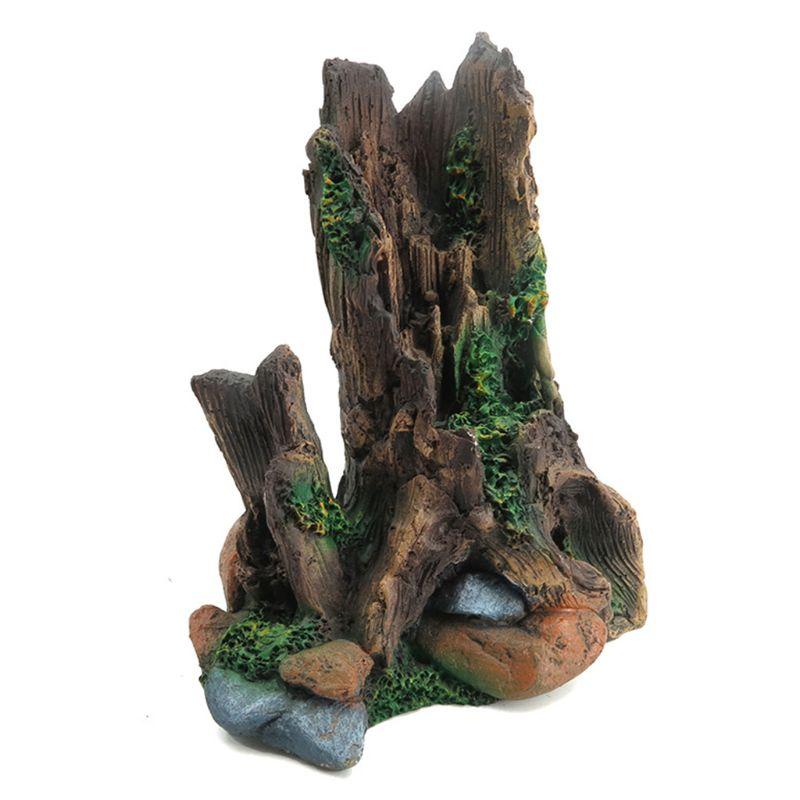Decoración Artificial para acuario, Bole, madera de tronco flotante, cueva de peces, tanque, adornos de resina