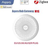 aqara m1s hub zigbee connection wireless smart gateway 3 hub for alarm system remote monitor works with mijia app homekit