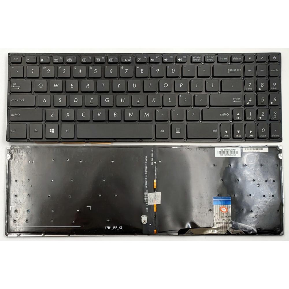 New For Asus N580 N580GD N580GD-DB74 N580VD N580VD-DB74T N580VD-DS76T NX580V NX580VD X580VD Series Laptop Keyboard US Backlit