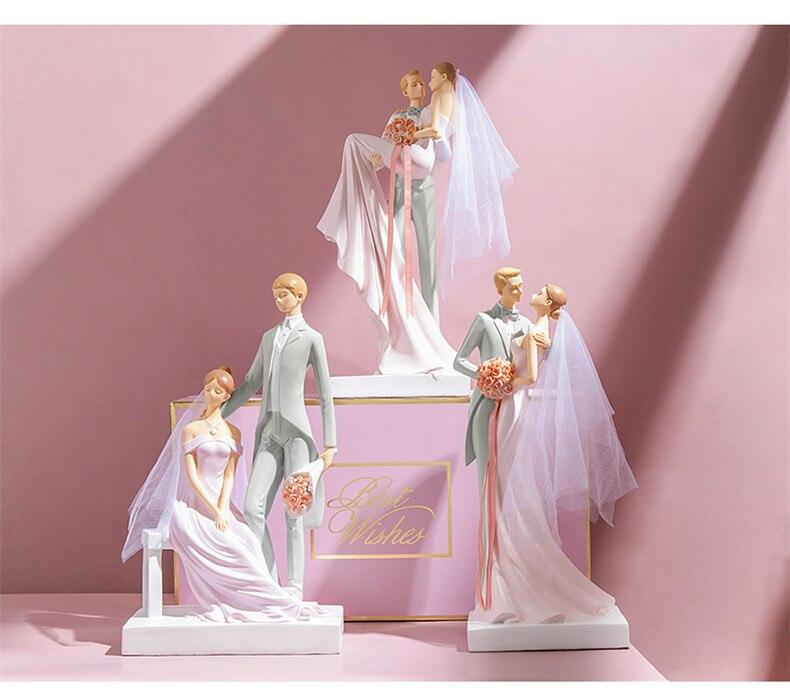 Aniversario regalos de boda pastel de boda topper novia y el novio pastel topper figuras pastel de decoración de la decoración de boda