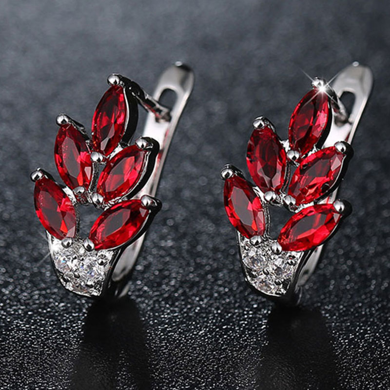 AliExpress - 1Pair Unusual Stud Earrings for Women Jewelry Fashion Korea Valentine's Day Gift Bijoux Red Silver Color Earrings Factory Price