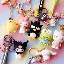 Sanrio Hello Kitty ma mélodie hfr oroll Pom Pom Purin BADTZ-MARU Xo Cartoon porte-clés sac pendentif porte-clés pour les filles enfants