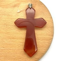 1pc natural agate stone pendants semi precious stone cross shaped 5 colors for choice diy for making necklace big size 53x80mm