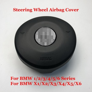 Car Steering Wheel Horn SRS Cover For BMW 1/2/3/4/5/6 Series X1/X2/X3/X4/X5/X6 Auto Accessories Steering Wheel ABS Plate