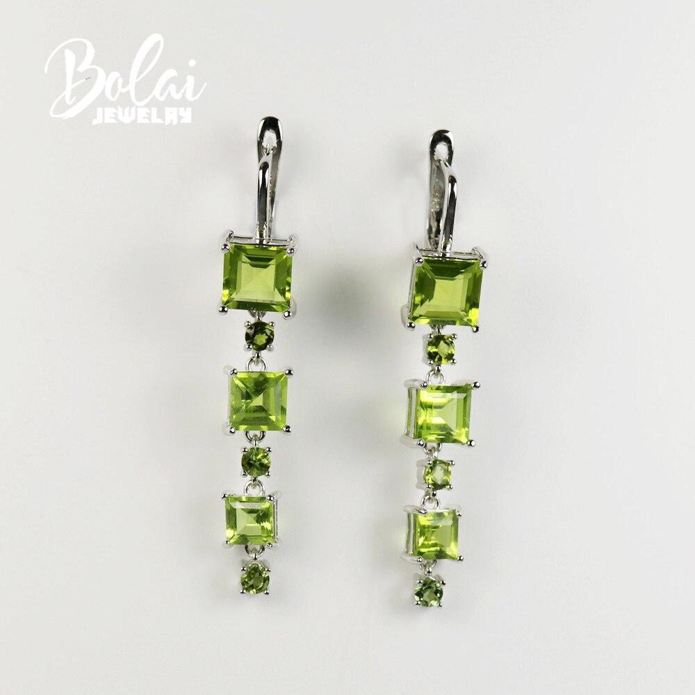 Bolaijewelry ، 2020 جديد اليدوية أقراط زبرجد ، 925 فضة ، هي مناسبة لأي مناسبة لارتداء المجوهرات الحساسة