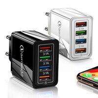 Зарядное устройство Quick Charge мобильный телефон 3,0, USB-зарядное устройство для планшета IP11 MATE 20 MATE 30 S10, адаптер с поддержкой быстрой зарядки 4,0