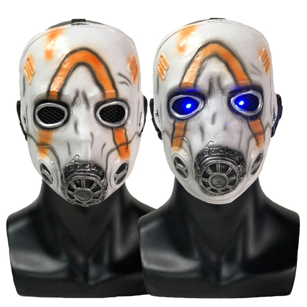 Led borderlands 3 psico máscara cosplay krieg látex máscaras adereços festa de halloween