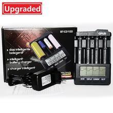Nowa ładowarka litowo-jonowa OPUS BT-C3100 ładowarka akumulatorów NiMH V2.2 uniwersalne cztery gniazda LCD Smart do ponownego ładowania z ładowarką
