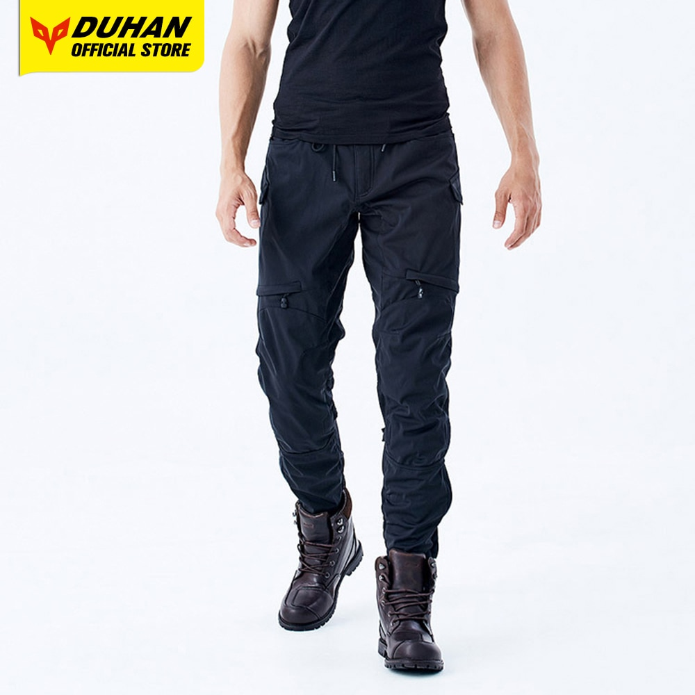 DUHAN Motorcycle Pants Summer Moto Cycling Pants Waterproof Body Protective Armor Motocross Trousers Off Road Riding Pantalon four seasons riding tribe motorcycle pants with knee hip pad moto motocross trousers body armor m l xl 2xl 3xl 4xl