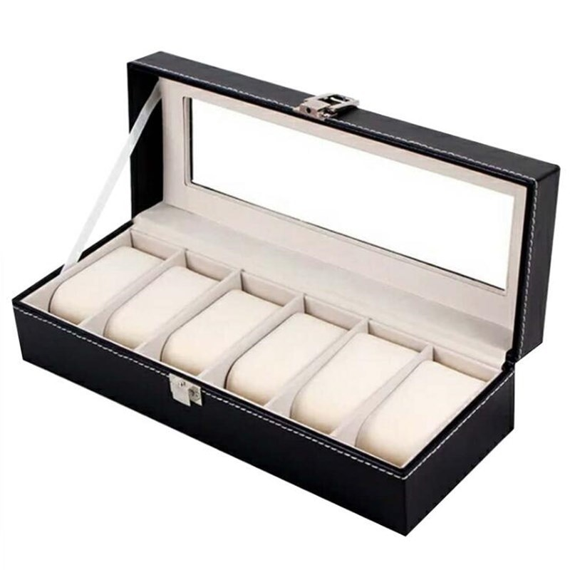 1/2/3/5/6 Grids Watch Box PU Leather Watch Case Holder Organizer Storage Box for Quartz Watches Jewelry Boxes Display Best Gift