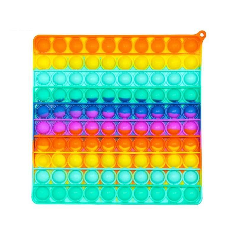 BIG Size Fidget Toys Simple Dimple Push Bubble Sensory Autism Special Needs Stress Reliever Helps Increase Focus Soft Squeeze