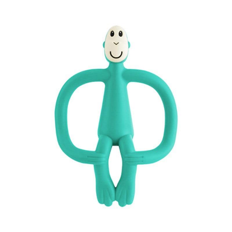 Mordedor de silicona sin BPA de grado alimenticio, pequeño ventilador de barra, collar de dentición, regalos para Baby Shower, chupete mordedor de animales de dibujos animados