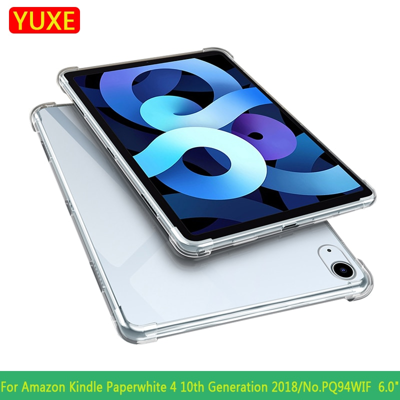 AliExpress - Tablet Case For New Kindle Paperwhite 4 10th Generation PQ94WIF 2018 6.0″ Cover Silicon Transparent Slim Airbag Cover Anti-fall