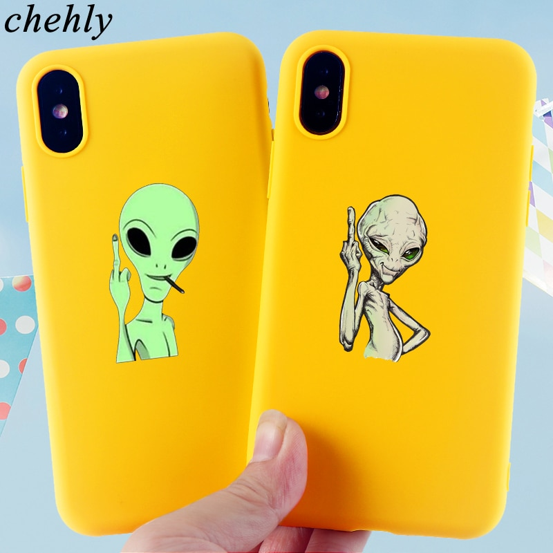 Alien Phone Case for IPhone 6s 7 8 11 12 Mini Plus Pro X XS Max XR SE Cases Soft Silicone Fitted Mob