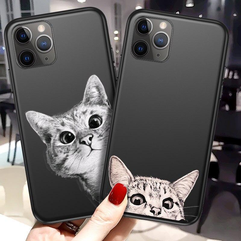 Lovebay чехол для телефона iPhone 11 6 6s 7 8 Plus X XR XS 11 Pro Max 5 5S мультяшный Кот астронавт животные мягкий TPU чехол для iPhone X