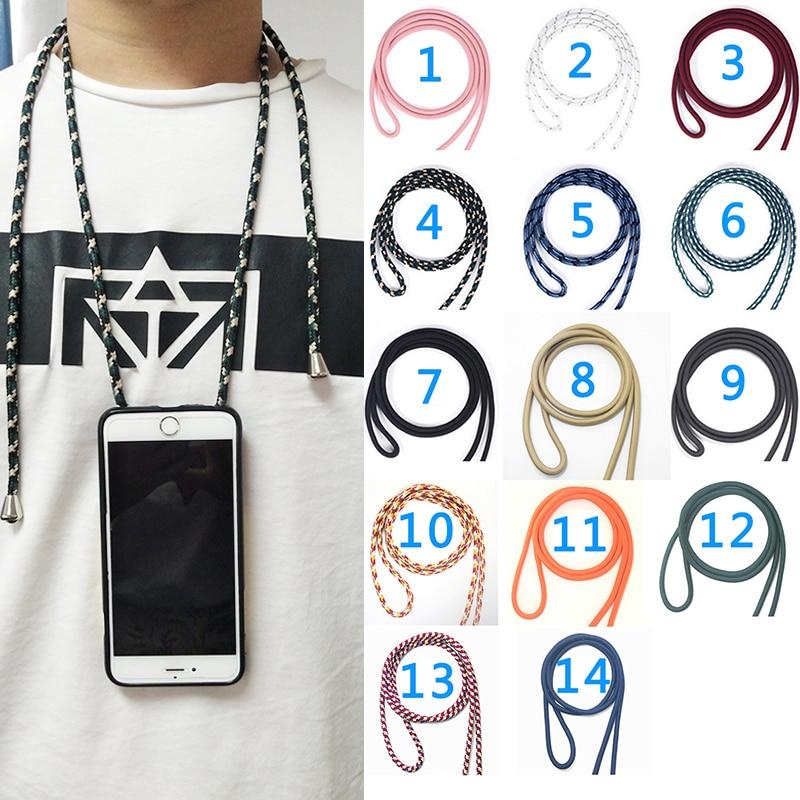 Capa macia para samsung galaxy, s4 s5 mini s3 duos neo s6 s7 edge s8 s2 plus cordão colar de ombro capa de telefone corda de pescoço