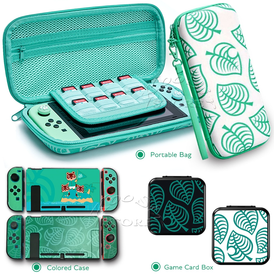 2020 más nuevo Nintend interruptor Animal Crossing caso Nintendoswitch soporte bolsa portátil para Nintendo interruptor/Lite consola Accesorios