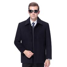 2020 Wool Jacket Men Winter Wool Coat Men Cashmere Coat Autumn Wool Blend Jacket Woolen Coat Men Pea Coat Turn-down Collar M-4XL