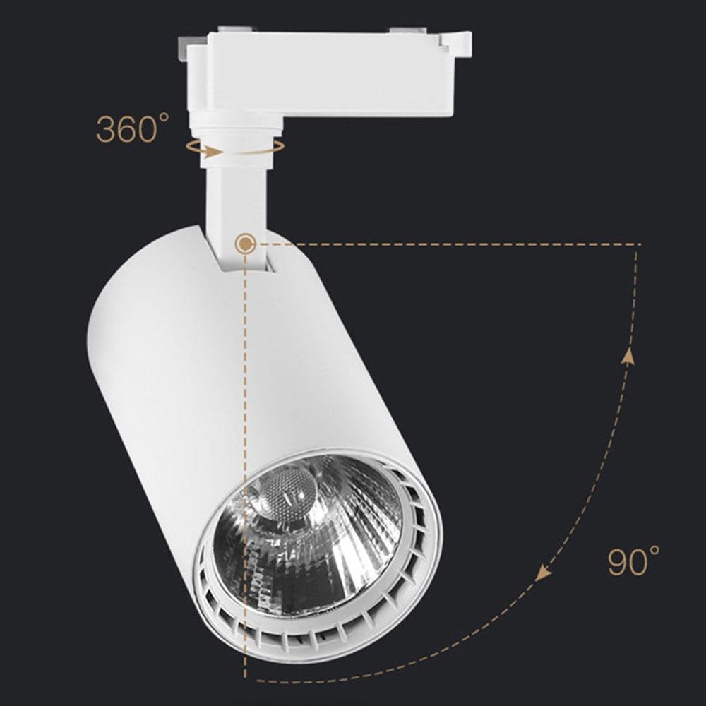 COB 20W LED Track Light de aluminio techo riel Track Lighting raíl para focos reemplazar lámparas halógenas 2019 nuevo N5