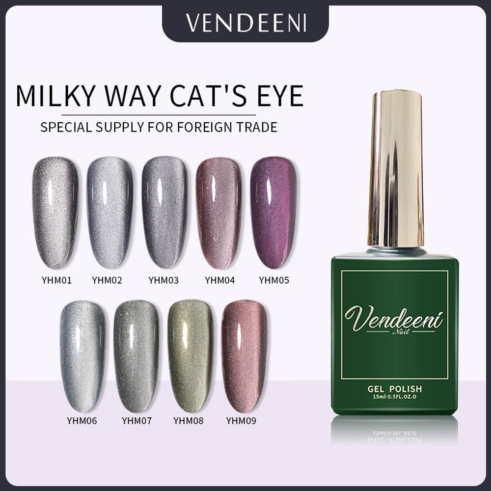 VDN 15ml Galactic Cat's Eye Nail Gel Polish Long Lasting UV LED Gel Lacquer Shiny 9D Cat Eye Gel Nail Polish Varnish