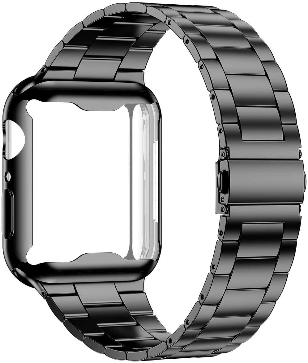 Carcasa + correa para Apple Watch Correa 44mm 40mm iWatch Correa 42mm/38mm acero inoxidable metal Apple watch 5 4 3 2 38/40 42/44mm