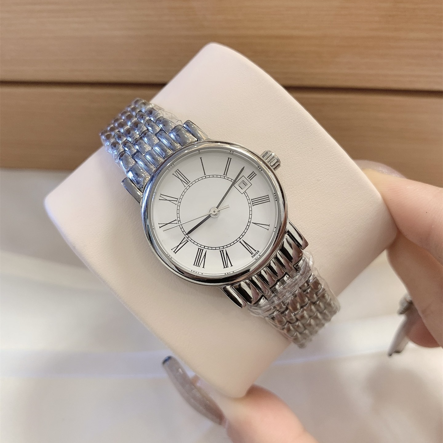 Ladies Stainless Steel Watch Watch Fully Automatic Mechanical Watch Exquisite Sapphire Stainless Steel Waterproof Watch
