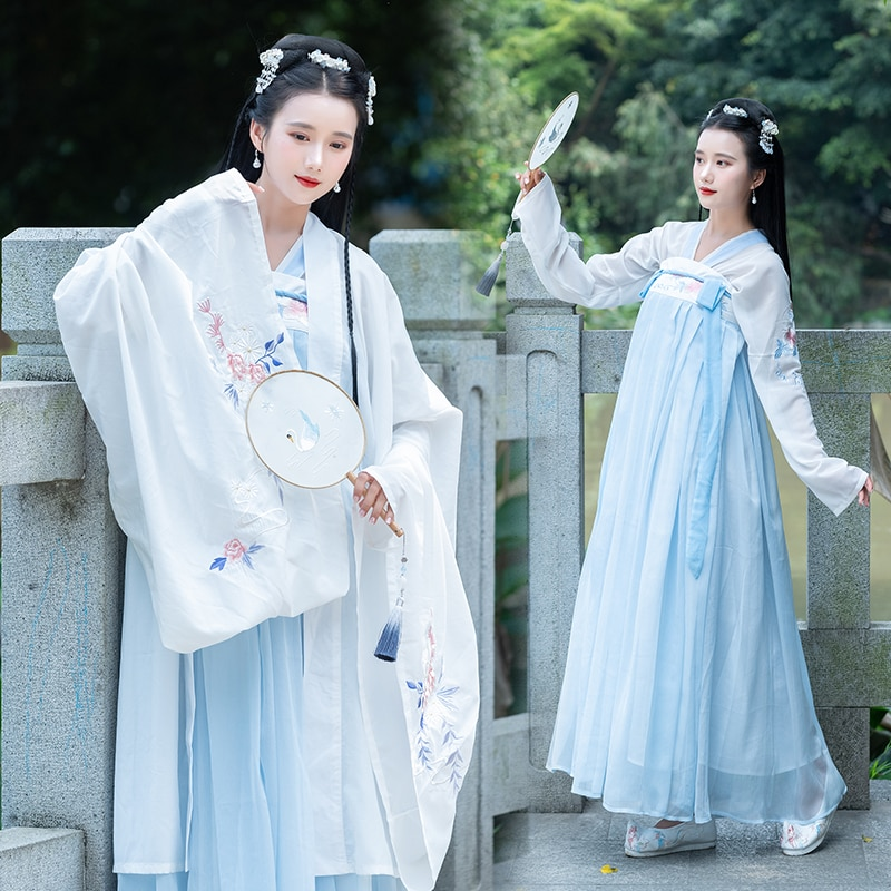 Elegante princesa vestido chino Hanfu tradicional traje para danza nacional antigua Tangsuit Vintage carnaval fiesta ropa