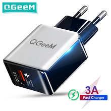 Зарядное устройство QGEEM QC 3,0 с USB-портом и поддержкой быстрой зарядки, 3,0