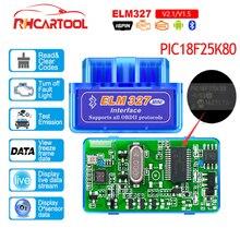 OBD2 Auto zubehör ELM327 Bluetooth V 1,5 PIC18F25K80 Chip OBD2 Code Reader ULME 327 V 1,5 OBDII Diagnose Werkzeug für android/PC