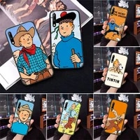 the adventures of tintin phone case for samsung a71 a80 a91 a01 a02 a11 a12 a21s a31 a32 a20e m10 m11 m20 m30 m31 m31s m21 cover