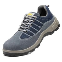 mens anti smashing anti piercing steel toe wear resistant puncture proof safety shoes slip on fashion concise work boots