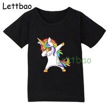 T-Shirt dété à manches courtes   Pour enfants, Dabbing T-Shirt noir, pour bébés garçons, hauts pour filles, Tee-shirt de 2 3 4 5 6 7 8 9 ans
