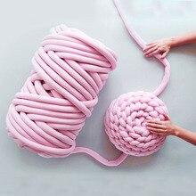 Bébé lit berceau pare-chocs couverture épaisse laine coton fil à la main tricot matériel Macaron couleur bricolage couverture fournitures décor à la maison