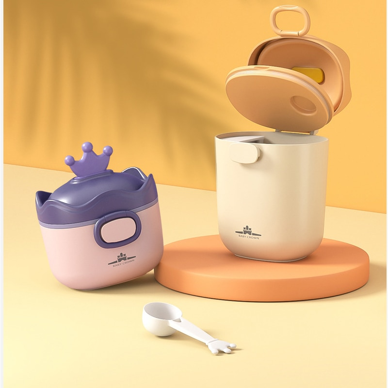 Portable Large-capacity Milk Powder Box BPA Free Formula Dispenser Baby Food Storage Container Snack Cups