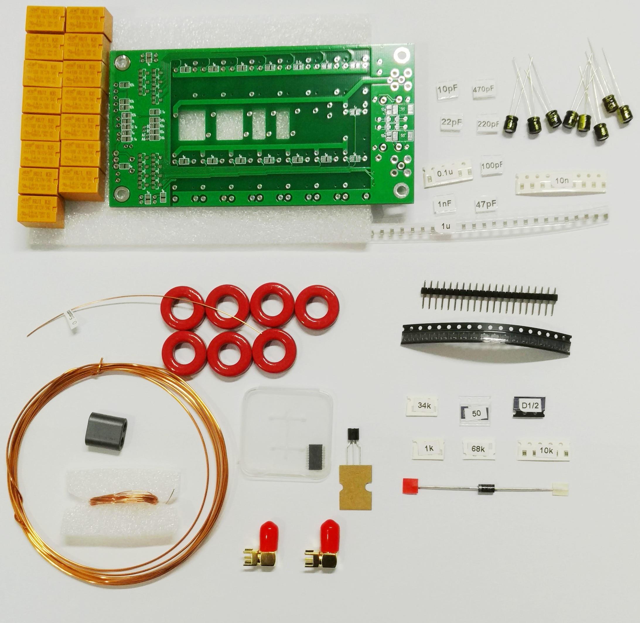 Latest version , Free shipping DIY Kits 1.8-50MHz ATU-100mini Automatic Antenna Tuner by N7DDC 7x7