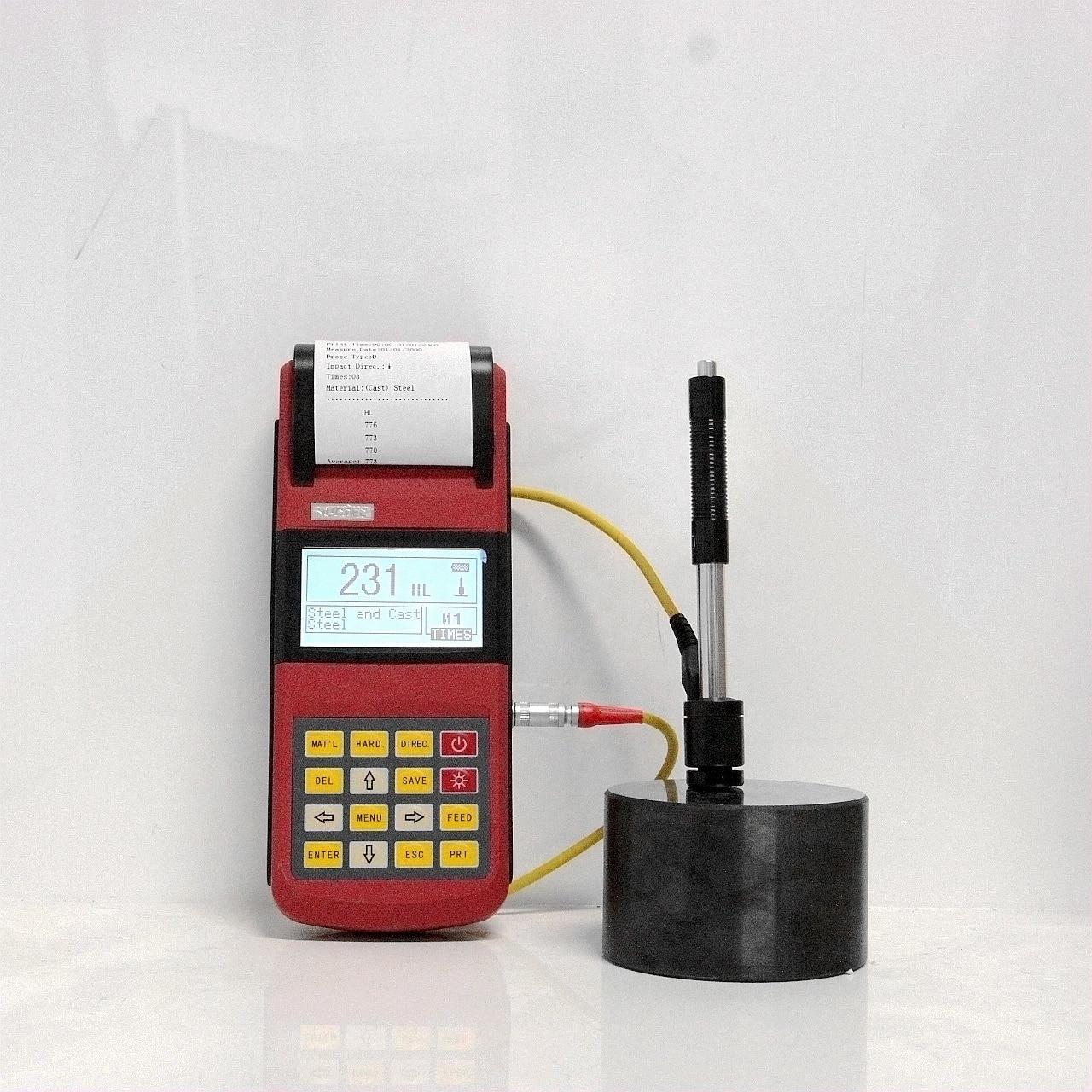 RHL160 Thermal printer integrated LED background light Leeb Hardness Tester enlarge