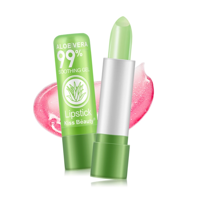 1PC Protect Lips Care Lipstick  Moisture Lip Balm Natural Aloe Vera Color Changing Long Lasting Moisturizing Lips Cosmetic TSLM1 недорого
