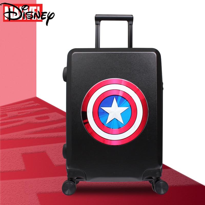 Disney Cute Cartoon Marvel Avengers Captain America Children Luggage Universal Wheel Silent Boarding Ranger Luggage