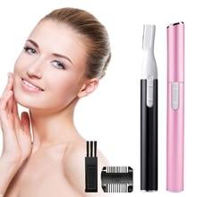 Electric Painless  Eyebrow Epilator Pen Razor Lady Trimmer Shaver Bikini Men Nose Hair Facial Remover  Female